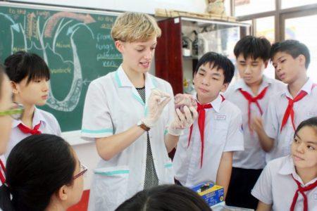 Học sinh thích thú, tự tin khi học chương trình tiếng Anh tích hợp
