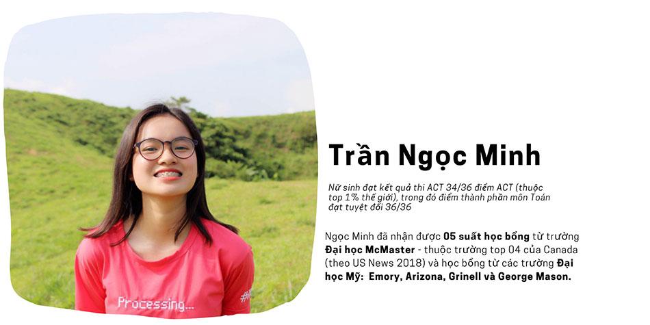 Trần Ngọc Minh - nữ sinh nhận 05 suất học bổng từ trường Mỹ và Canada