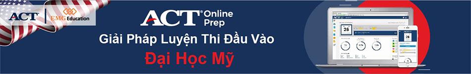 ACT Online Prep - công cụ luyện thi ACT trực tuyến