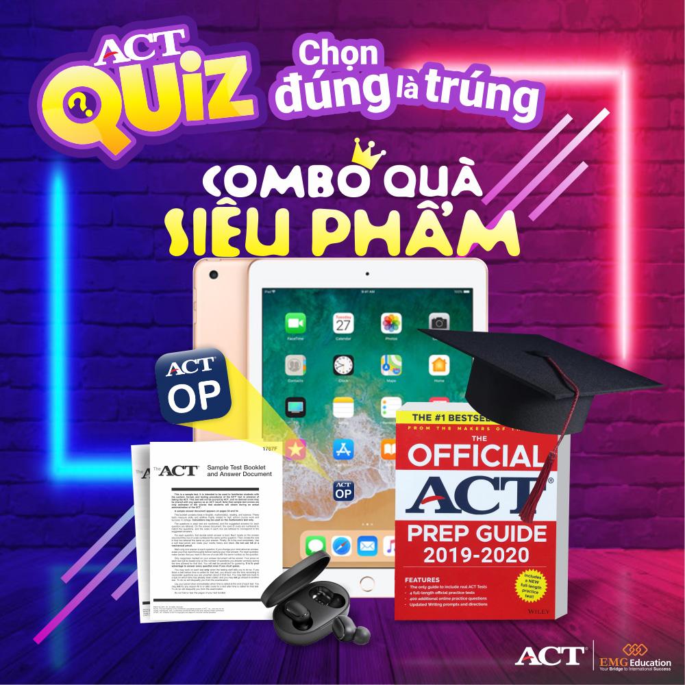 Combo quà siêu phẩm từ ACT Quiz