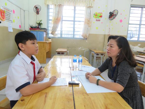 Học sinh bậc THCS tham gia kỳ thi PTE General