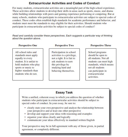 Đề thi viết mẫu trong bài thi ACT